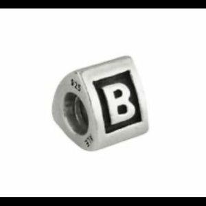 """Retired Pandora block initial charm """"B"""""""